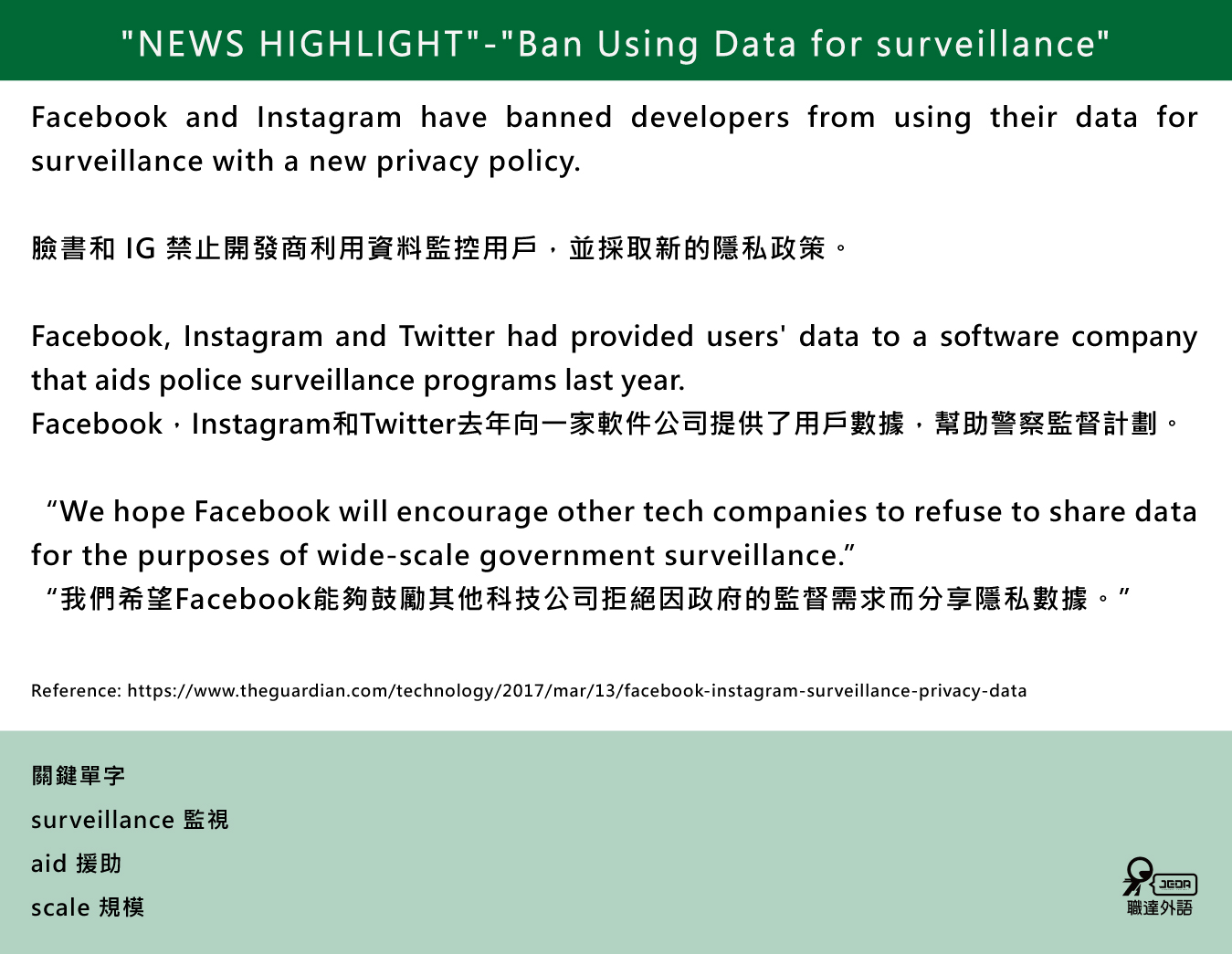 FB和IG採取新的隱私政策!
